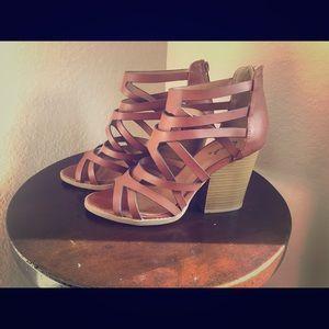 Brown Qupid chunky heel